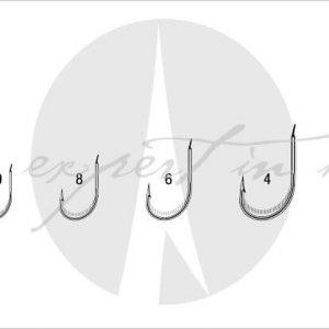 VMC 7053 Vanadium Worm Hook – Single With Side Barbs